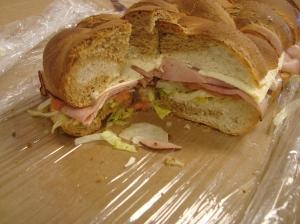 Sandwiches were gobbled up!