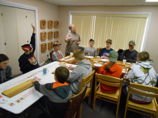 Teen Council Learning Cribbage