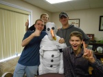 Teen Council Builds a Snowman