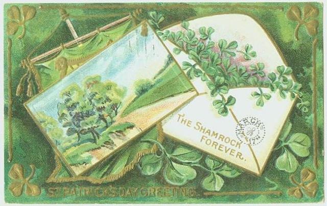 free-vintage-st-patricks-day-shamrocks-envelope-and-painting