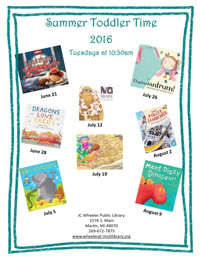 Toddler Time SRP 2016